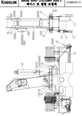 Trụ quay của cẩu Kanglim 3 tấn KS733N-KS734N-KS735N