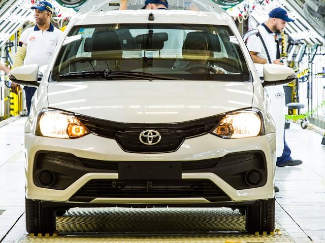 Toyota Etios 2019 - aumento de preços