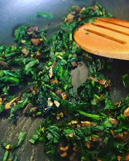 Portobellini rellenos de espinaca