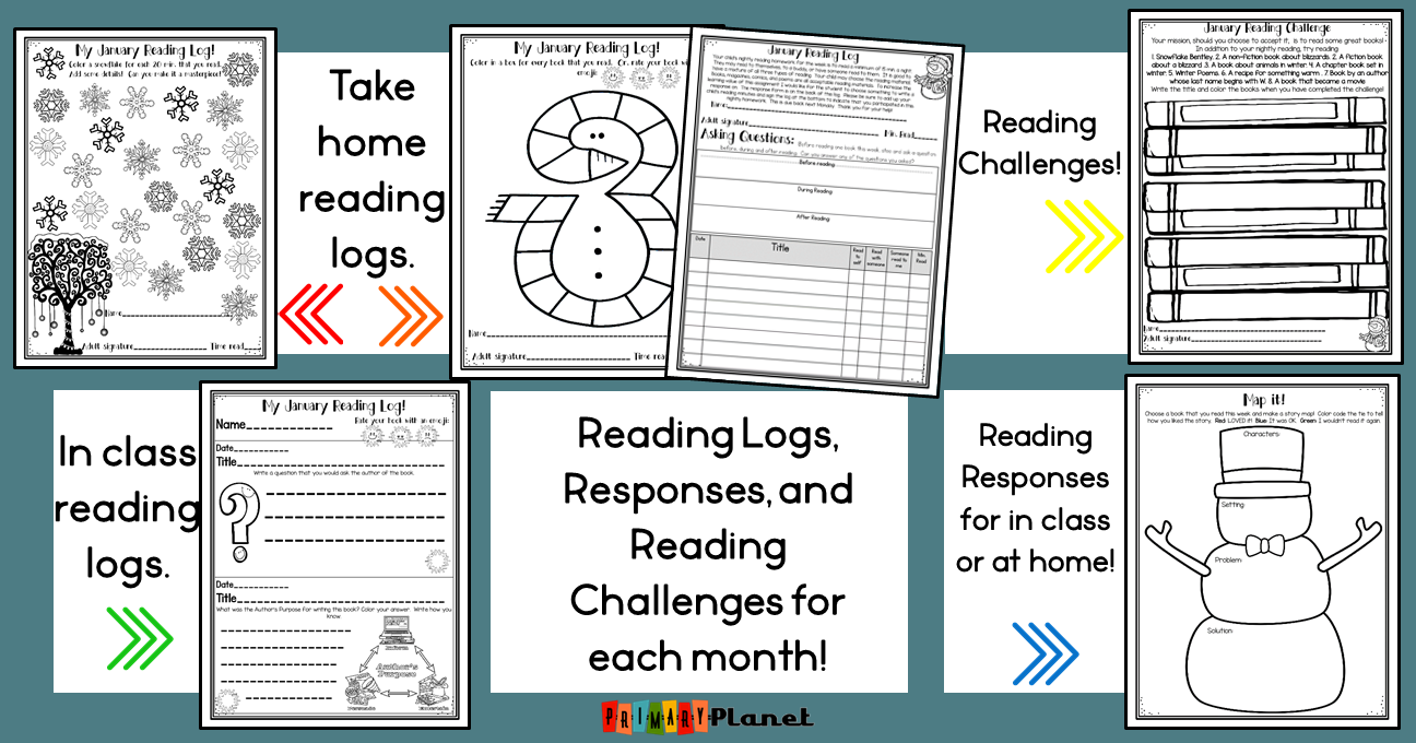 A blog post about Reading Homework.  Looking to improve your student's reading comprehension and help them meet their reading goals?  This post has ideas about ways to help your students improve their reading with or without reading homework.  It includes information about fun reading logs! Includes in-class reading logs that are cute, independent, and simple.  Take-home reading logs with a response, parent signature, and rating.  These come in nightly, weekly, and monthly formats! #reading