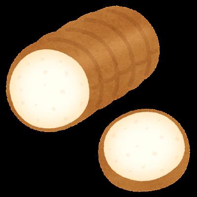 食パン1斤のイラスト(丸型)