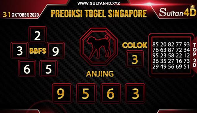 PREDIKSI TOGEL SINGAPORE SULTAN4D 31 OKTOBER 2020