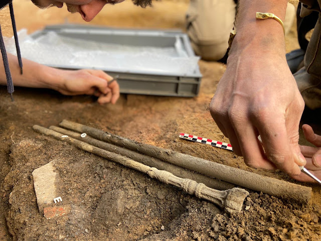 French archaeologists discover rare Gallo-Roman trumpet at the Roman Forum in Bavay