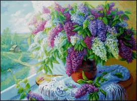 Landscape whit Lilac