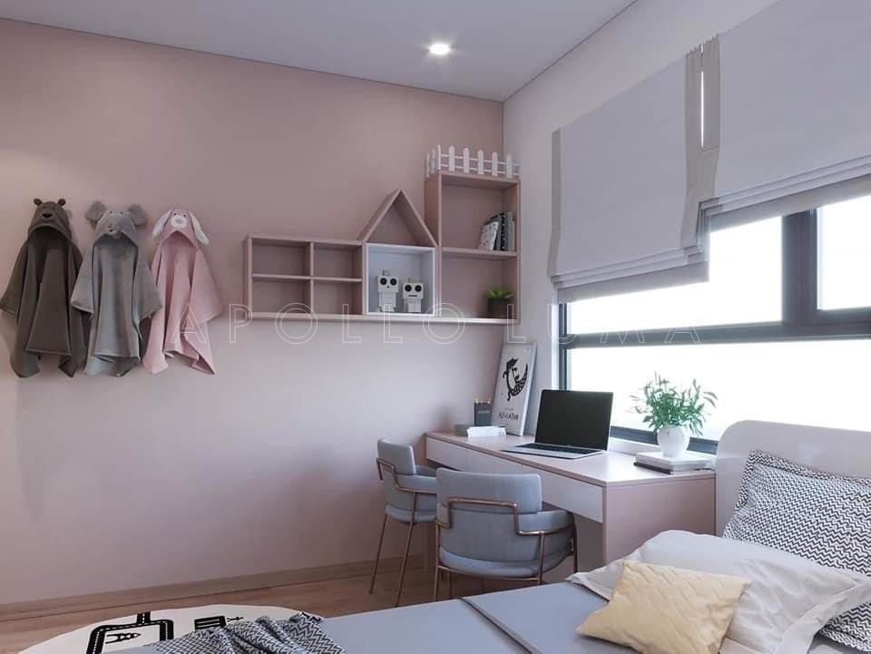 Thiết kế nội thất căn hộ 2PN+1 Vinhomes Smart City phong cách hiện đại