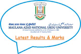 MANUU Results 2018