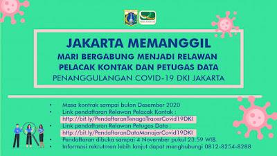 Rekrutmen Relawan Pemrpov DKI Jakarta Tahun 2020