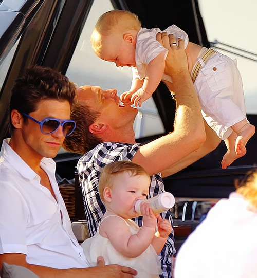 neil patrick harris with his partner and two kids