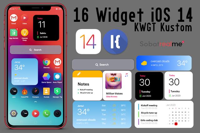 Cara Memasang Widget iOS 14 di Android Terbaru