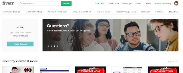 Pengalaman Mendapatkan Ratusan Dollar's Fiverr.com