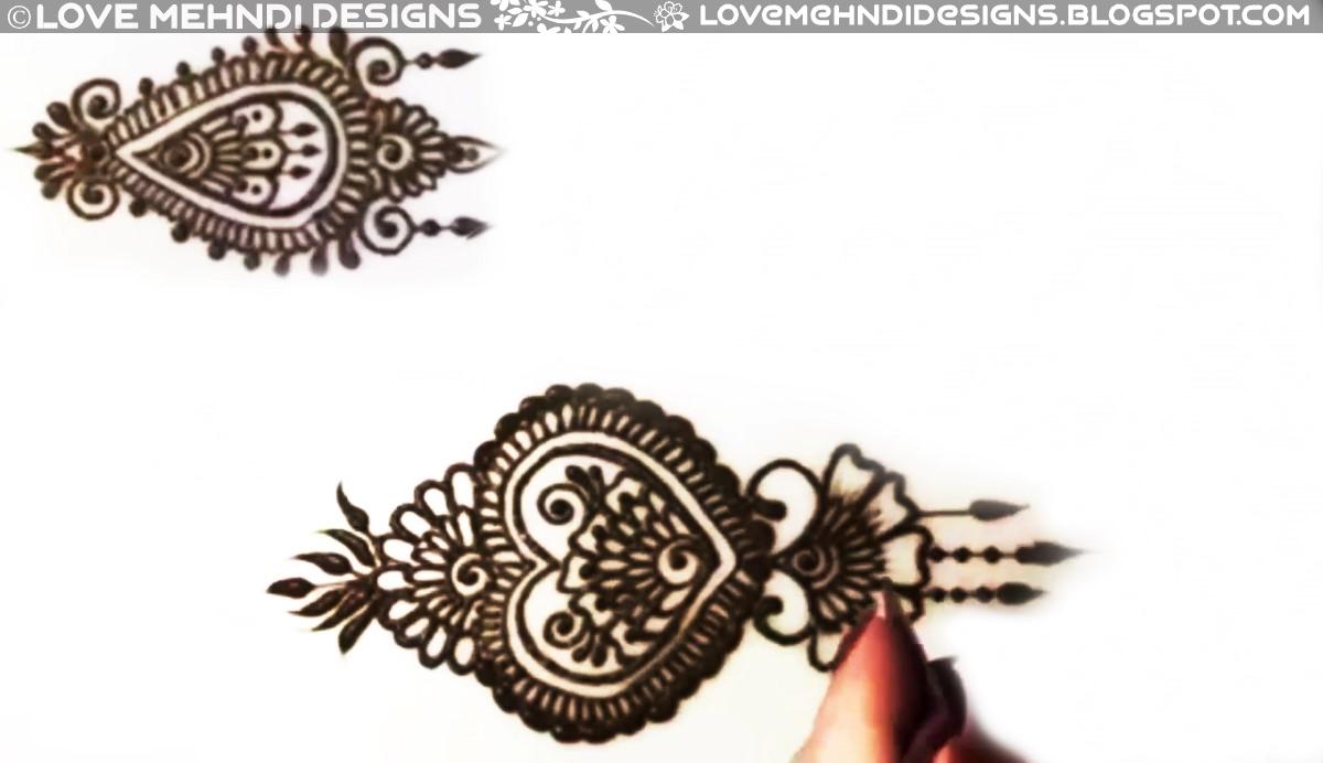 Heart Henna Designs Love Mehndi Designs