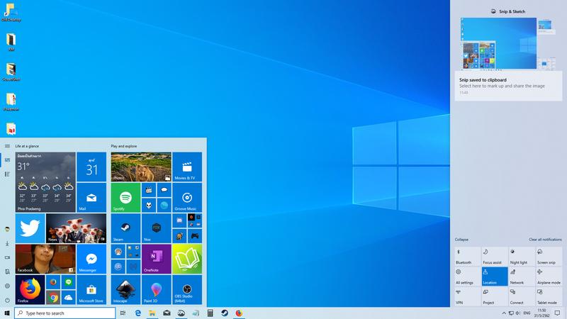 อัพแล้วขาวขึ้น Windows 10 May 2019 Update (Ver 1903)