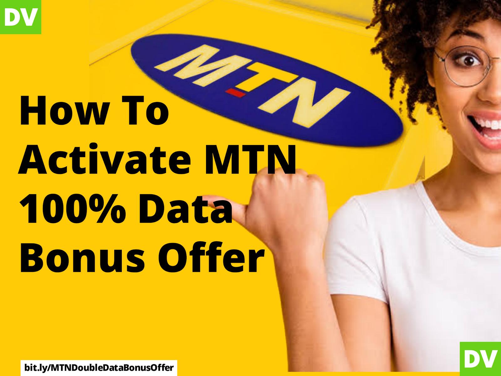 MTN 100% data bonus