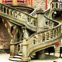 Pictures of Ireland: staircase at Belfast Castle