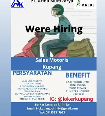 Lowongan Kerja PT. Arina Multikarya Sebagai Sales Motoris Kupang