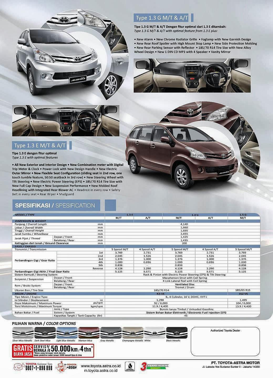 Brosur Grand New Avanza 2018 Silent Remote Toyota 2017 Kediri