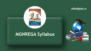 MGNREGA Junior Technical Assistant Syllabus