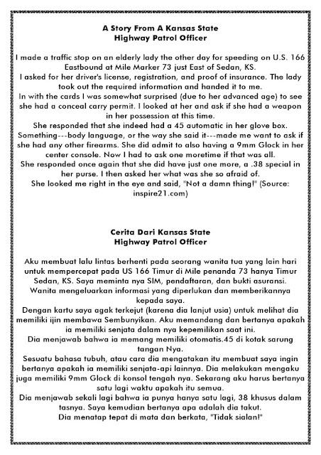 cerita bahasa inggris pak polisi dan terjemahan