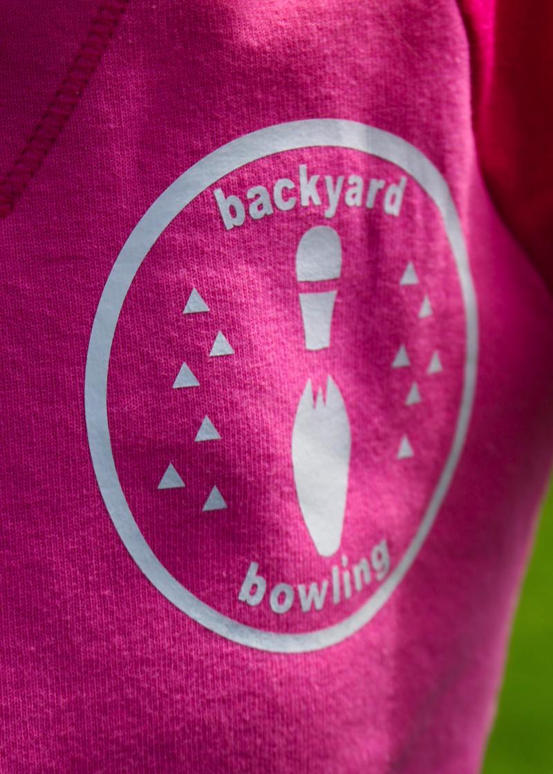 backyard bowling shirts with cricut cloudy day gray