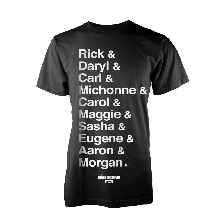 Walking Dead (The) - Names - T-Shirt Unisex