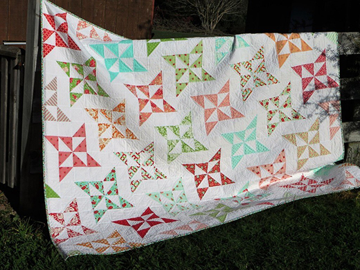 Arabesque Quilt designed by Allison Jensen from Woodberry Way for Moda Fabrics