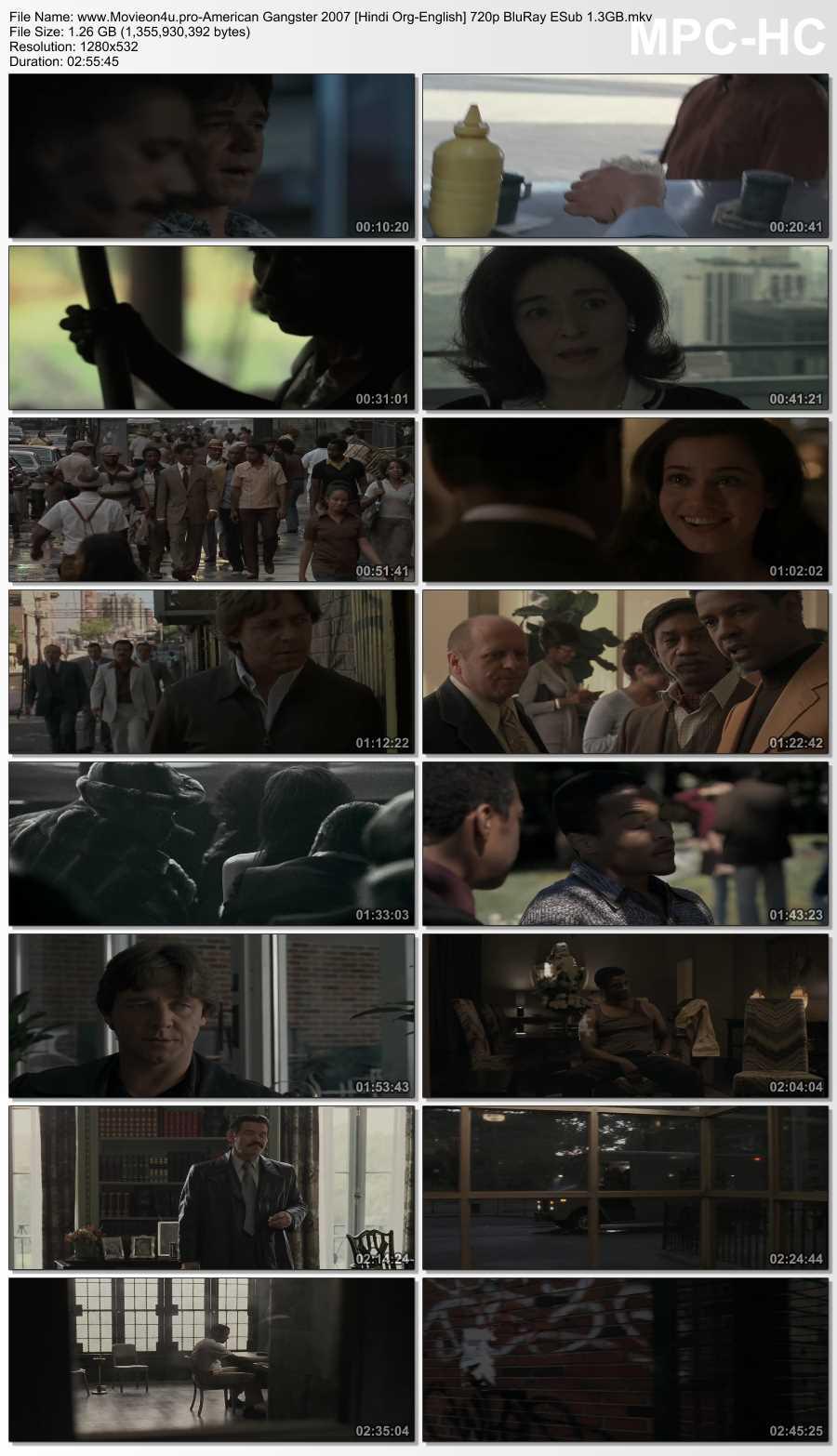>American Gangster 2007 480p Dual Audio In [Hindi English]