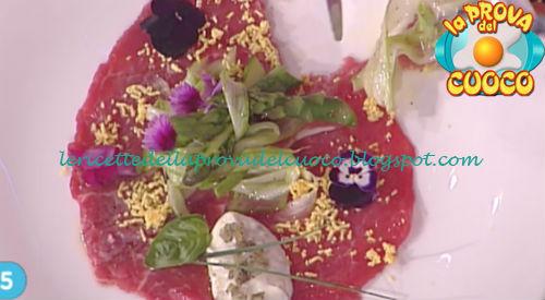 Prova del cuoco - Ingredienti e procedimento della ricetta Carpaccio con insalata di asparagi crudi di Gian Piero Fava