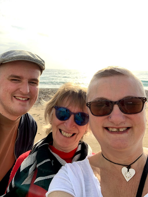 madmumof7 with mum and son in Cyprus