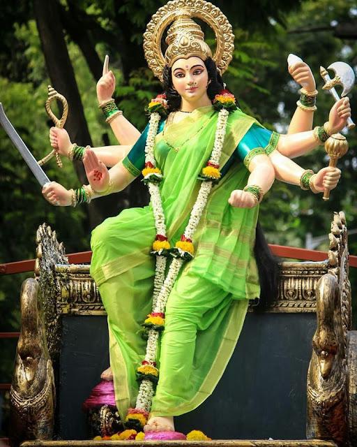 Goddess Mata Ji Wallpaper–Navaratri Greetings