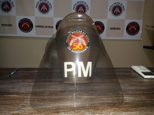 56 CIPM recebe doação de protetores faciais