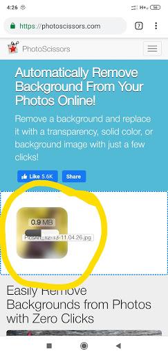 Photoscissors Image Uploading