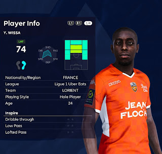 PES 2021 Faces Yoane Wissa