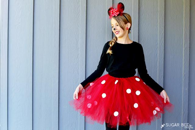 Disfraz de Minnie Mouse heco con tutú