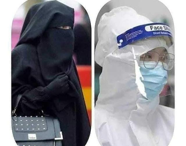 (Corona Virus) Ketika China Hapus Syari'at Menggunakan Hijab, Allah Paksa Wanita Wuhan Berhijab Dalam Keadaan Takut