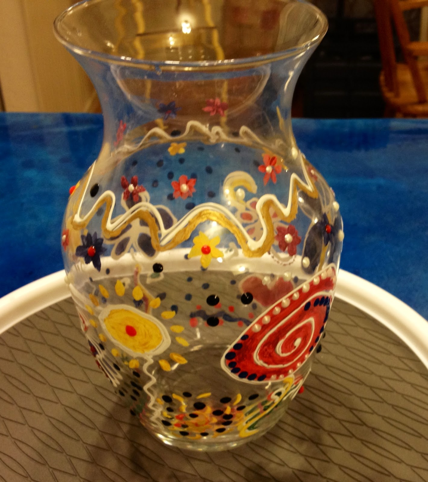 ~ Marilyn's Crafts ~: Vase Painting