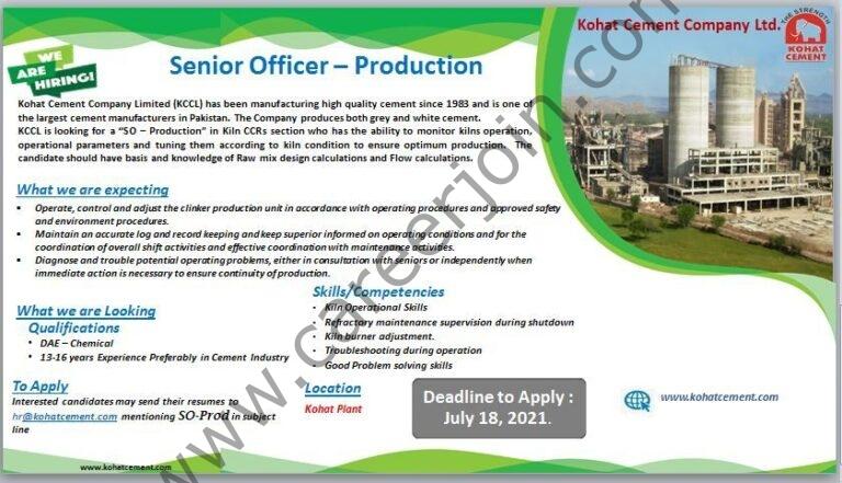 Jobs in Kohat Cement Company Ltd