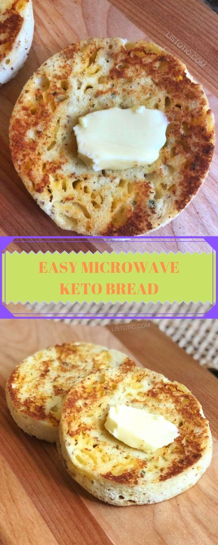 EASY MICROWAVE KETO BREAD