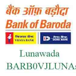 Vijaya Baroda Bank Lunawada Branch New IFSC, MICR