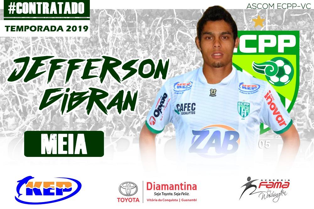 A diretoria do ECPP-Vitória da Conquista contratou o meia atacante  Jefferson Gibran de 24 anos para o Campeonato Baiano 2019. Natural de Campo  Grande-MS 1110c48d9249c