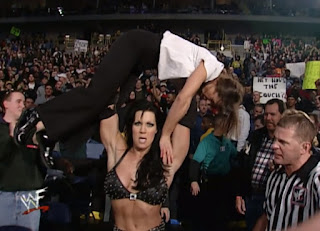 WWE / WWF Royal Rumble 2001 - Chyna presses Ivory in their women's title match