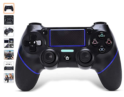 PS4 Controller Wireless Gamepad, [Upgraded Version] for Playstation 4
