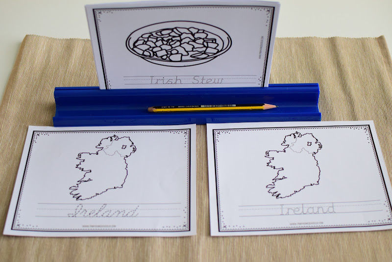 Ireland Country Study: Coloring and Tracing Sheets (Print and Cursive)