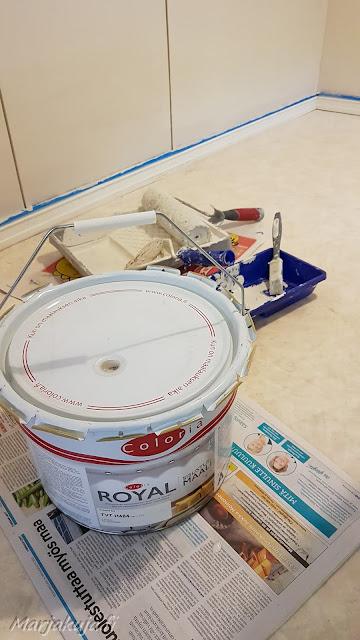 keittiö sisustus maali seinämaali coloria mulperi