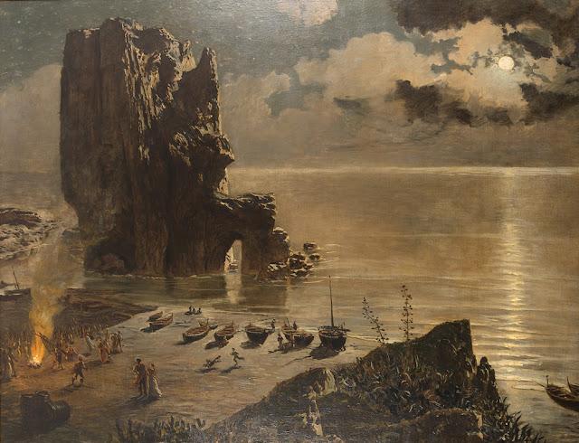 Antonio Munoz Degrain - Hoguera en la Playa