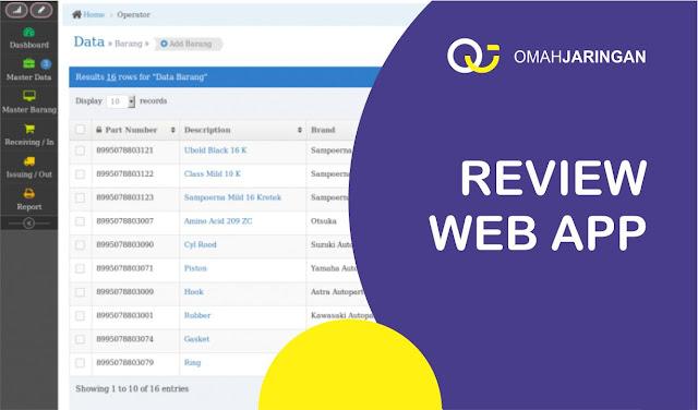 Review Aplikasi Stok Barang Berbasis Web PHP, MySQL, dan Codeigniter