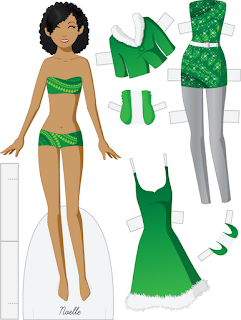 Noelle - Fashion Friday Paper Doll