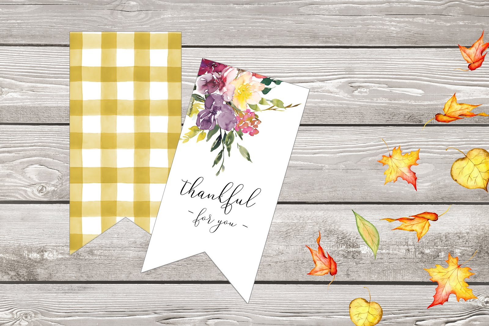 printable Fall gift tags
