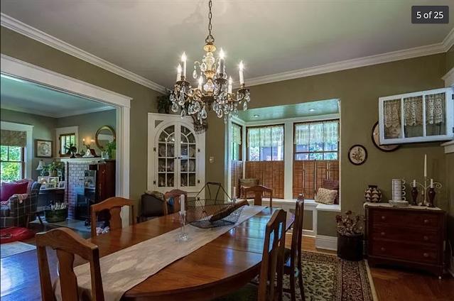 color photo of dining room of Sears Kilbourne 201 Iola Street Glenshaw Pennsylvania