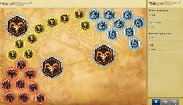bảng ngọc Ezreal ap