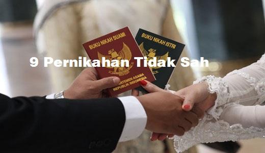 Perlu Anda Ketahui 9 Bentuk Pernikahan yang Tidak Sah alias Batal